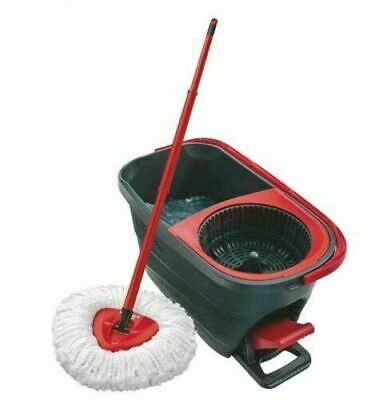Vileda Easy Wring and Clean Turbo Mop and Bucket Set Microfibre Quick Pedal Dry