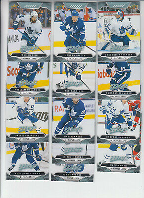 19/20 UD MVP Toronto Maple Leafs Team Set with SPs - Matthews Marner Tavares +