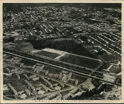 Press Photo Aerial view of the Burdine's tract in the Gables, Florida