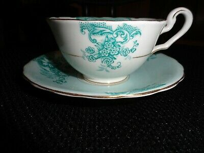 VICTORIA C&E BONE China Made In England Cup, Saucer And 8