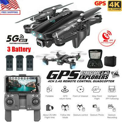 Drone RC Drones x Pro 5G With 4K HD Camera GPS WIFI FPV Foldable Quadcopter US