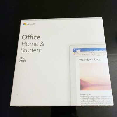 Sale ! Microsoft Office 2019 Home and Student with DVD +Product Key Full Version