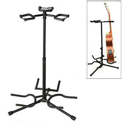 Triple Guitar Stand Bass Acoustic Electric Folding Multiple 3 Guitar Rack UK Sto
