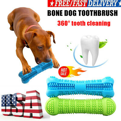 Pet Dog Bone-shape Toothbrush Brushing Chew Toy Stick Teeth Cleaning Oral Care~