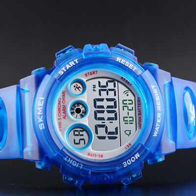 Kids Fashion Watches Boys Girls Waterproof Sports Led Alarm