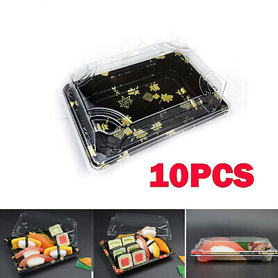 10x Small Buffet Party food Platter Trays & Lids Cakes Sushi Party Packing Boxes