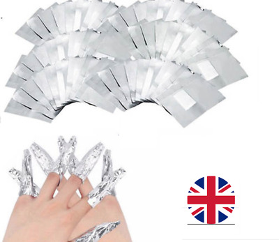 100 Nail Foil Gel Wraps Polish Remover Art Soak Off Acrylic Removal No Acetone