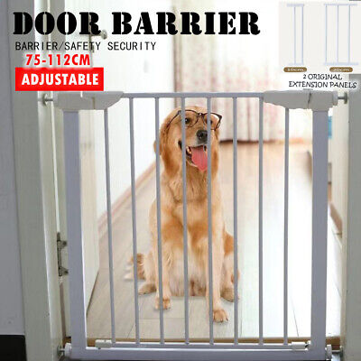 77cm Tall Adjustable Wide Baby Child Pet Safety Security Gate Stair Barrier Door