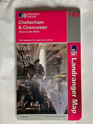 OS Ordnance Survey, Landranger Map, No: 163, Cheltenham & Cirencester