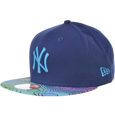 New Era Mens New York Yankees MLB 9FIFTY Snapback Baseball Cap Hat - Blue