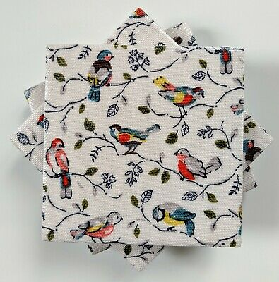 4 Ceramic Coasters in Cath Kidston Little Bird Shabby Chic