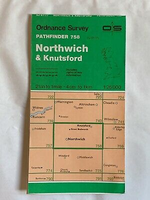 OS Ordnance Survey, Pathfinder Map, No: 758, Northwich & Knutsford