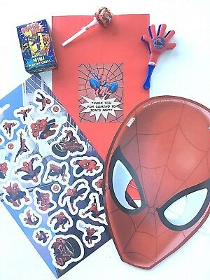 PreFilled Deluxe Boys Personalised Superhero SPIDERMAN Loot/Party Bags/Favours
