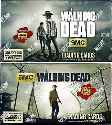 THE WALKING DEAD SEASON FOUR (4) PART 1 AND PART 2 TWO BOX COMBO (Cryptozoic)