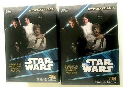 2019 Topps Star Wars Skywalker Saga Blaster Box ( 2 Box Lot )