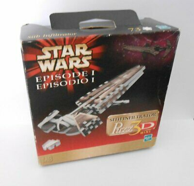 Star Wars Episode I Puzzle 3D sith Infiltrator 73 Pieces Hasbro