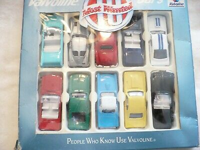 83A- Valvoline Most Wanted Cars (10) (1:64 Scale) Mib   #5505