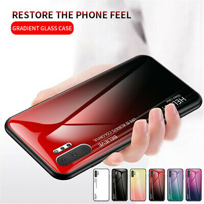 For Samsung Galaxy Note 10 Plus 10 Luxury Slim Hybrid Case Gradient Glass Cover