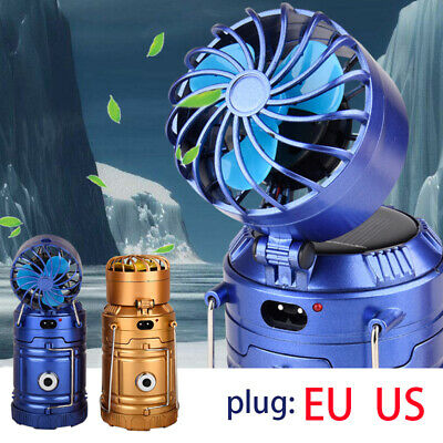 Camping Light Solar Rechargeable Fan Multi-function LED Table Lamp Flashlight