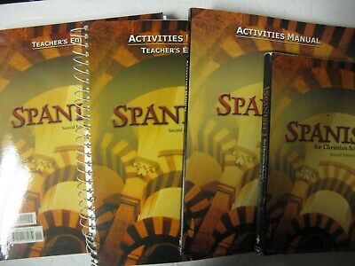 4 Pc.complete Set Bju Spanish 1 For Christian Schools-2Nd Edition -Very Nice Set
