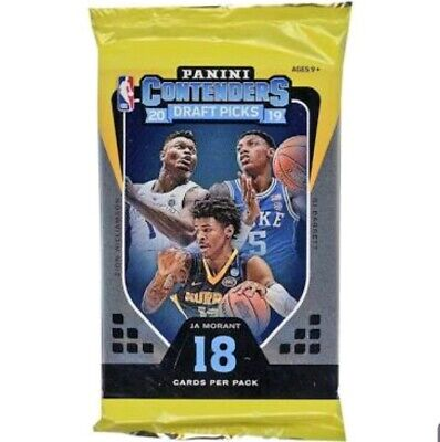 2019 2020 Panini Contenders Basketball Draft Picks Sealed 1 NEW PACK ZION 1 pack
