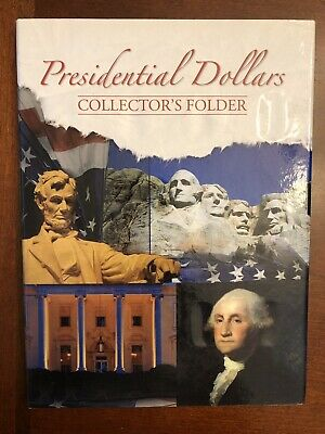 Deluxe Whitman Presidential Dollars Collectors Folder With 12 Coins Starter Set