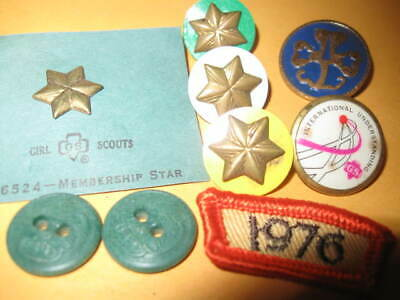 GS GSA GIRL Scouts Of America Coin Token Pins 1St Day Letter