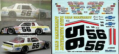 1//24th Scale Decals #56 Earnie Irvin Dale Earnhardt Chevrolet 1//25th