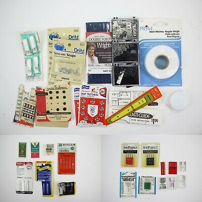 Large Lot of Vintage Sewing Machine Needles & Accessories Singer, Bernina +