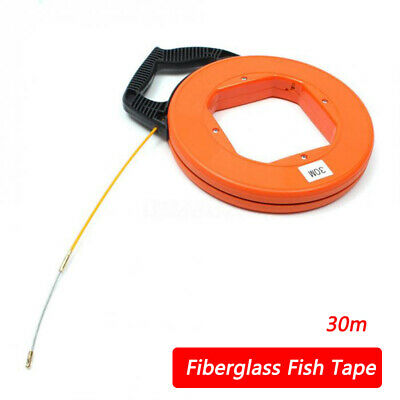 30m Electrician Fish Tape Cable/Wire Access Puller Conduit Drywall Threader