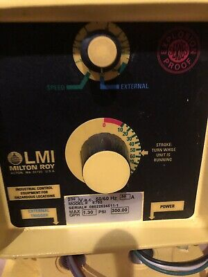 LMI Metering Pump E702-85HV Explosion Proof+ Parts To Install-flex,boxes,seal Of