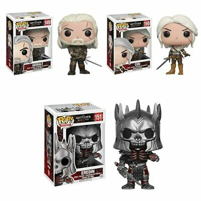 Funko Pop! Game Character Witcher 3 CIRI,GERALT,EREDIN Vinyl Action Figures Gift