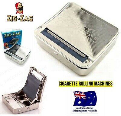 zig ZAG AUTOMATIC CIGARETTE ROLLING MACHINE BOX TOBACCO TIN tobacco papers