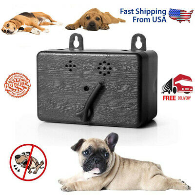 Outdoor Ultrasonic Anti-Barking Device Dog Bark Control Sonic Silencer Tool USA