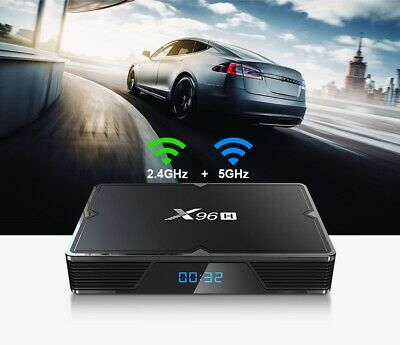 6K TV Set-Top Box Android 9.0 Dual-Band WiFi HD Smart Media Player Home/Office