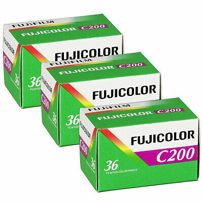 3 x Fuji Fujfilm Fujicolor C200 Film Pack 135 (36 Exposures)