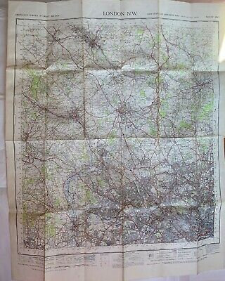 Ordnance Survey One Inch Map, London, North West, sheet 160, 1948 approx