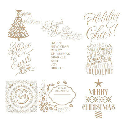 Christmas Hot Foil Plate Metal Cutting Dies Stencil Paper Card Crafts Embossing
