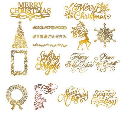 Christmas Embossing Hot Foil Plate Paper Card Crafts Metal Cutting Dies Stencil