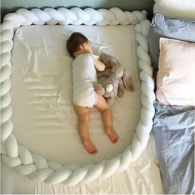 2M/3M Infant Plush Crib Pillow Pad Protector Bumper Bed Bedding Cot Braid Hot