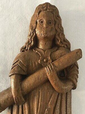 Early carving of female saint, 16th or 17th century?