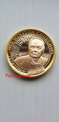 2015 Gibraltar Sir Winston Churchill Gold / Silver Proof £2 Two Pound Coin