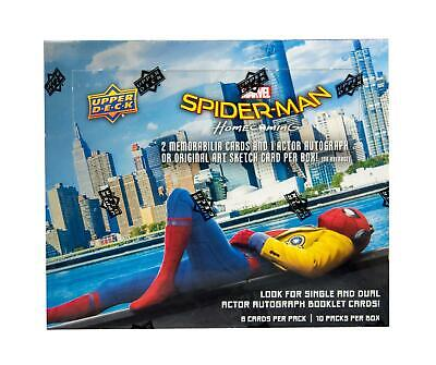 Marvel Spider-Man Homecoming Hobby Box (Upper Deck 2017) - 1 Auto Or Sketch Card