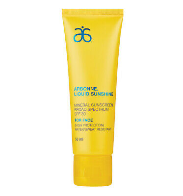 Arbonne Liquid Sunshine Sunscreen Broad Spectrum Spf30 High Protection 50Ml New