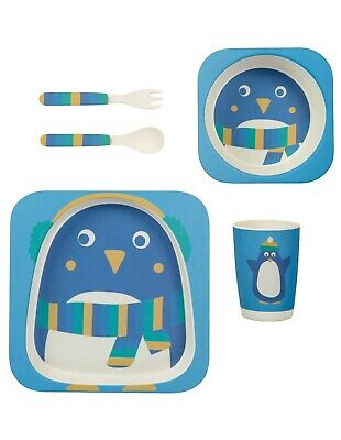 FRUGI***Bamboo Dinner Set***Kinder Geschirr-Set***organic***Penguin