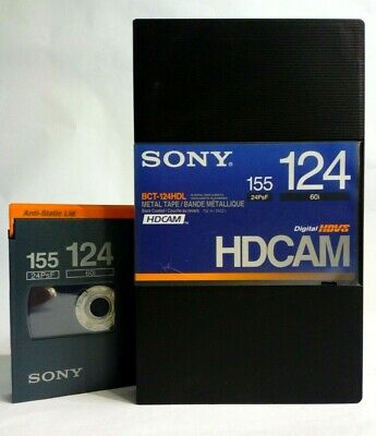 Sony BCT -124 HDL 155 124 HDCAM Blank Hd video Cassettes