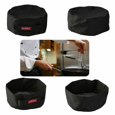 Mesh Top Skull Cap Professional Catering Chefs Hat with Adjustable Strap