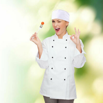 Breathable Mesh Top Skull Cap Catering Chefs Hat with Adjustable Strap