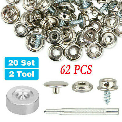 10x Genuine DOT Canvas To Canvas Clinch Stud Socket Washer Boat Cover Fasteners
