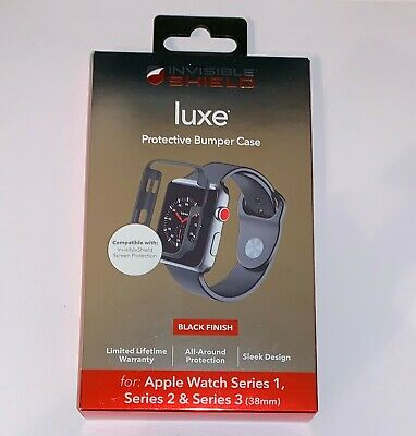 Zagg InvisibleShield LUXE BUMPER Case For Apple Watch Series 1, 2 & 3 (38mm) NEW